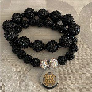 Rustic Cuff black bracelet set